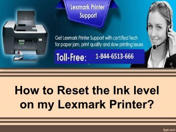How to Reset the Ink level on my Lexmark Printer-converted