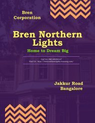 Bren Northern Lights Off Thanisandra Bangalore