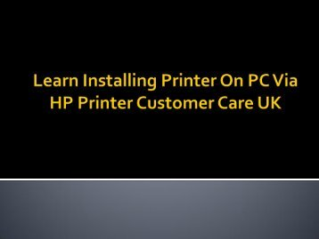 The New Way To Install HP Printer On PC