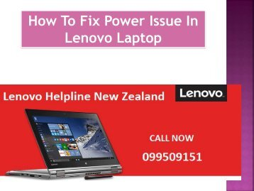 How To Fix Power Issue In Lenovo Laptop