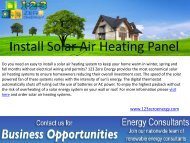 Install Solar Air Heating Panel