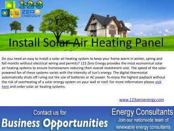 Install Solar Air Heating Panel