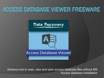 Access Database Viewer Freeware