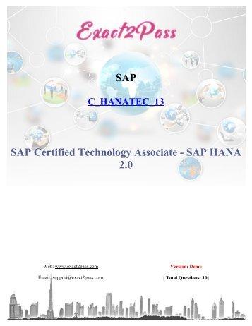 Updated [Sep 2018] SAP C_HANATEC_13 Exam Exact2pass