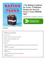 ^DOWNLOAD-PDF) The Baking Cookbook for Teens 75 Delicious Recipes for Sweet & Savory Treats EBOOK #pdf
