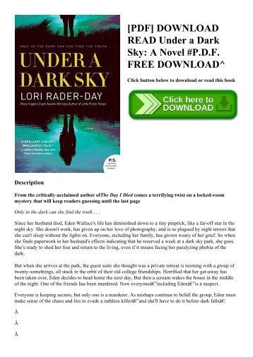 [PDF] DOWNLOAD READ Under a Dark Sky A Novel #P.D.F. FREE DOWNLOAD^