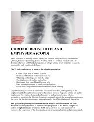 CHRONIC BRONCHITIS AND EMPHYSEMA (COPD)