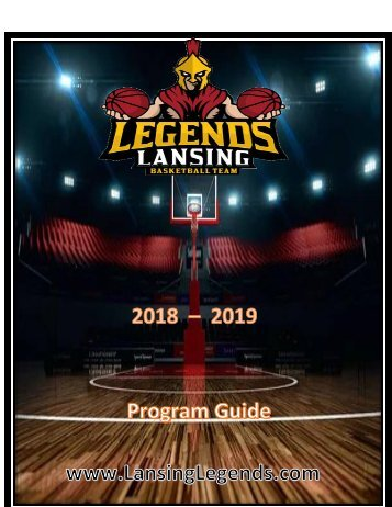 Program Booklet w Game Schedule SAMPLE