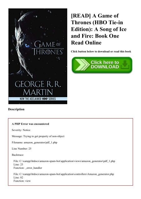 Song Of Ice And Fire Book 1 Pdf