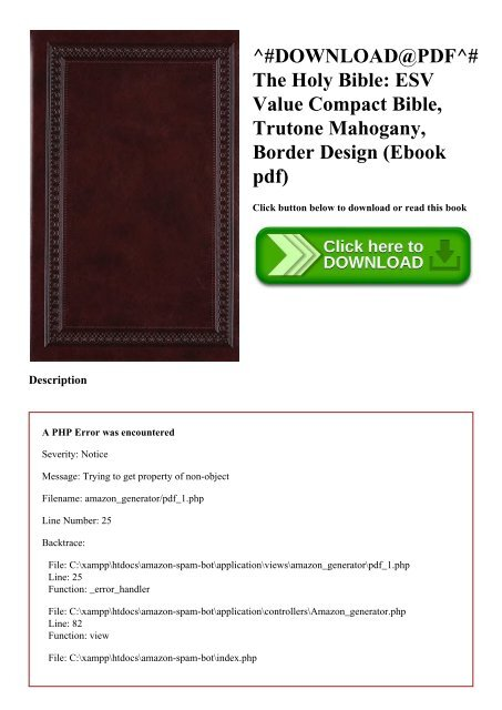 DOWNLOAD@PDF^# The Holy Bible ESV Value Compact Bible