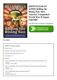 [DOWNLOAD IN @PDF] Killing the Rising Sun How America Vanquished World War II Japan Full PDF