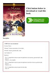 PDF) Heroes of Olympus  The Book Three The Mark of Athena #P.D.F. FREE DOWNLOAD^