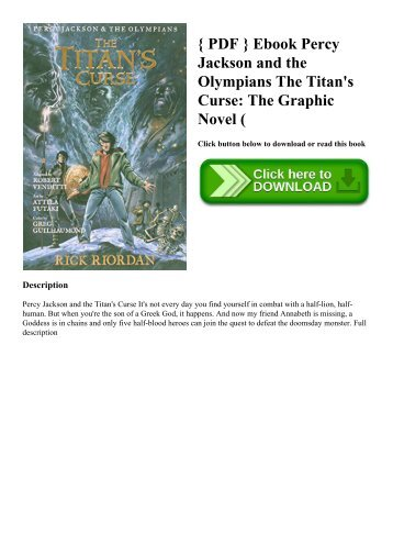 Percy Jackson And The Olympians 3 The Titans Curse