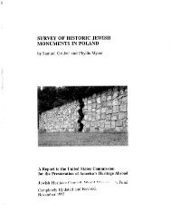 survey of historic jewish monuments in poland - United States ...