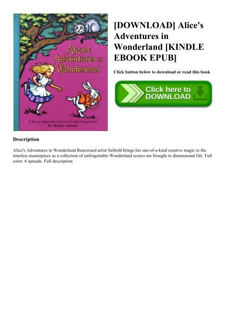 Alices Adventures In Wonderland Epub
