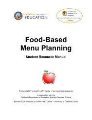 Food-Based Menu Planning - UC Davis Center for Nutrition in ...