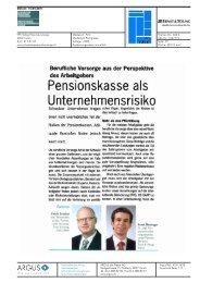 Pensionskasse als Unternehmensrisiko - Home - Ernst & Young ...