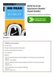DOWNLOAD Sparknotes Hamlet (Epub Kindle)