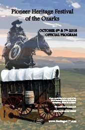 2018 Pioneer Heritage Festival Program