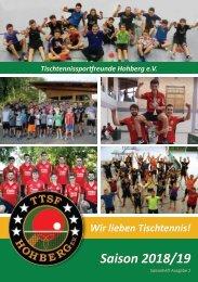 Saisonheft TTSF Hohberg (2018 / 2019)