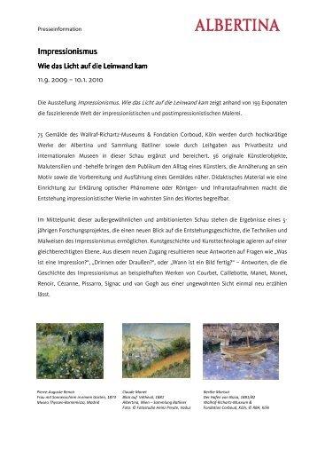 Impressionismus Impressionismus - Albertina