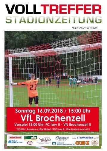 2. Ausgabe Stadionzeitung 2018/19