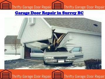 Garage Door Repair in Surrey BC