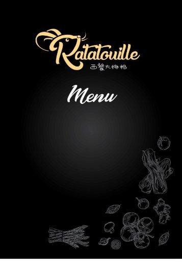 Ratatouille Menu Book