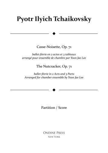 Tchaikovsky (arr. Lee): Casse-noisette / The Nutcracker, Op. 71 for chamber ensemble