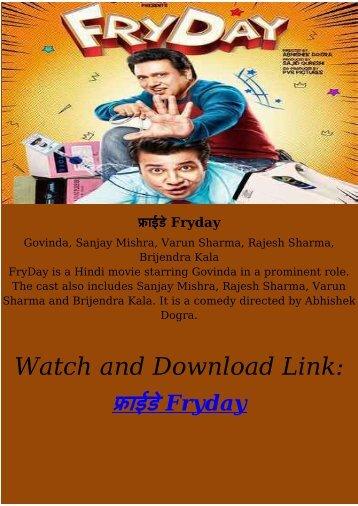 Streaming Full Hindi Movie फ्राईडे Fryday HD-BLURAY FREE