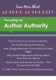 Learn More About Author Authority