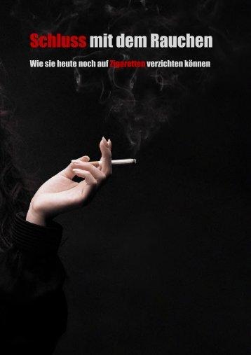 Schluss mit dem Rauchen