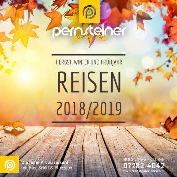 Neuer Reisekatalog - Herbst, Winter und Frühjahr 2018/2019