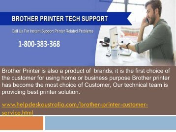 Find Call Us 1-800-383-368  Brother Printer Support  Number