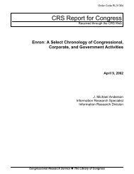 Enron: A Select Chronology of Congressional, Corporate, and ...