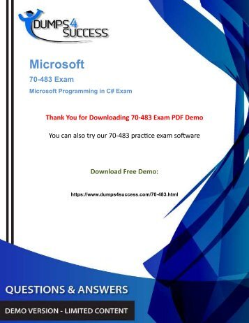 Practice Tests And Microsoft 70-483 MCSA Web Applications Real Exam Questions