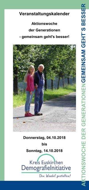 Aktionswoche der Generationen - Veranstaltungskalender2018