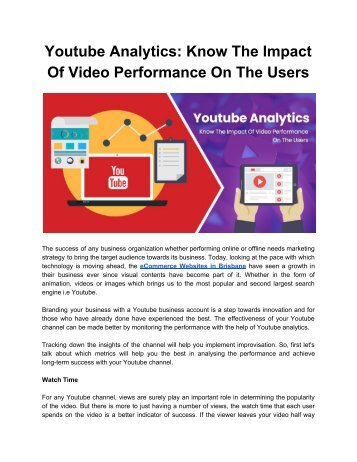 Youtube Analytics_ Know The Impact Of Video Performance On The Users