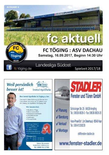 """""""fc aktuell"""" Saison 2017-18 Ausgabe 6"""