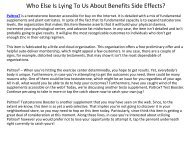 Dirty Facts About Benefits Side Effects Revealed