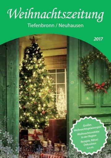 Weihnachtszeitung 2017 - Tiefenbronn/Neuhausen