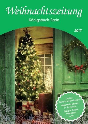 Weihnachtszeitung 2017 - Königsbach-Stein