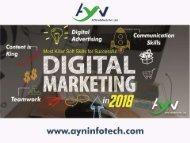 Most Killer Soft Skills for Successful Digital Marketer in 2018