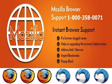 Top Most Issues of Mozilla Firefox You Face 1-800-358-0071 Helpline Number
