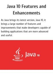 Java 10 Features and Enhancement