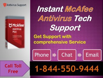Instant McAfee Antivirus 1-844-550-9444 Tech Support Help