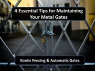 4 Essential Tips for Maintaining Your Metal Gates