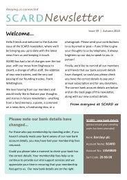 SCARD Newsletter - Issue 39, Autumn 2018