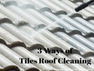 3 Ways of Tiles Roof Cleaning by Peak Pressure Washing