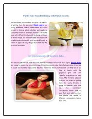 Fulfill Your Sexual Intimacy with Dubai Escorts